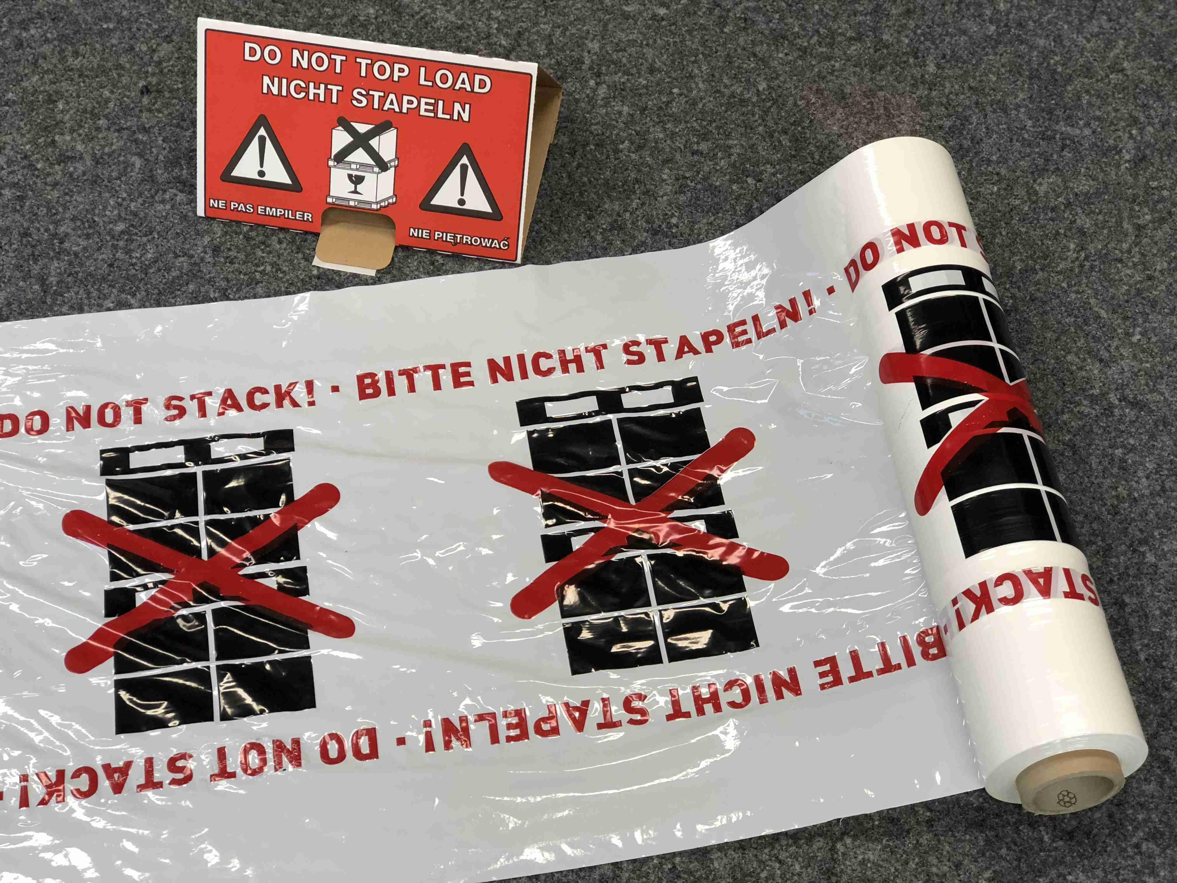 Warn Wellpapp Dreieck Bitte Nicht Stapeln Und Die Passende